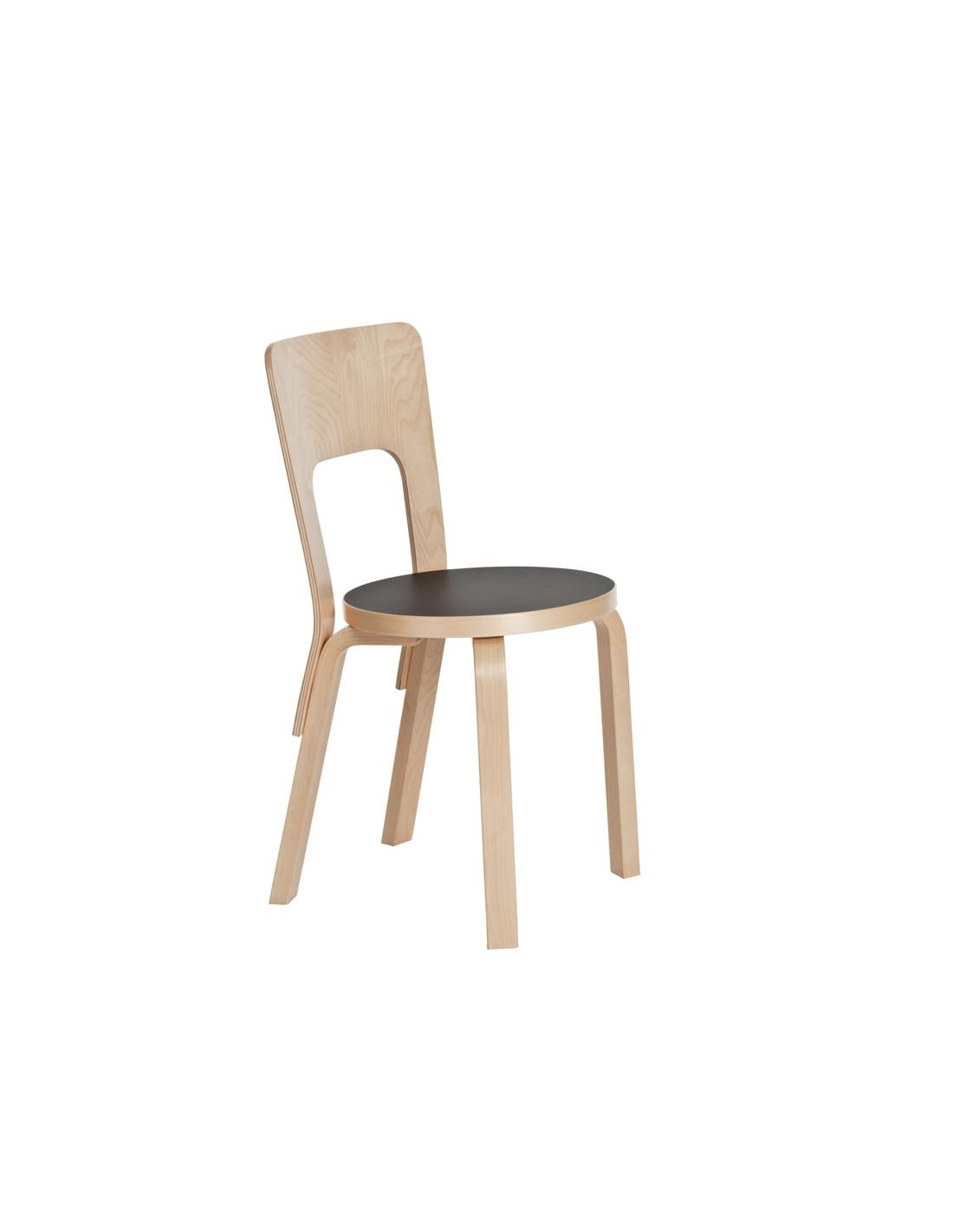 Chaise 66 design aalto alvar pour artek la boutique danoise for Chaise 66 alvar aalto