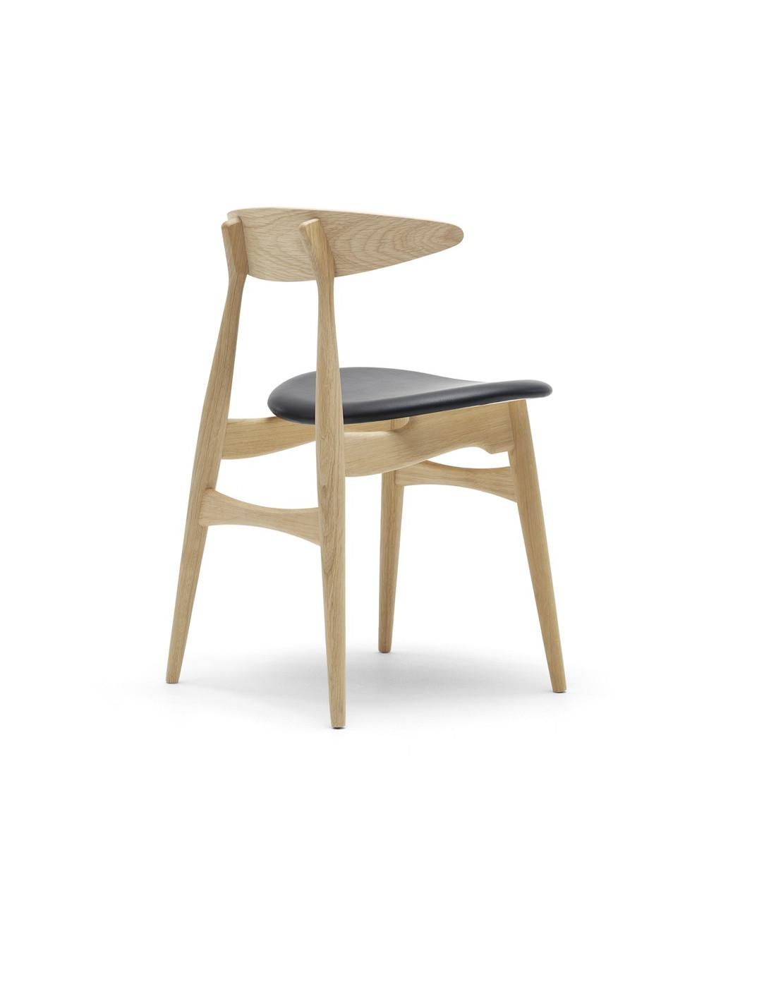 chaise ch33 design hans j wegner par carl hansen la boutique danoise. Black Bedroom Furniture Sets. Home Design Ideas