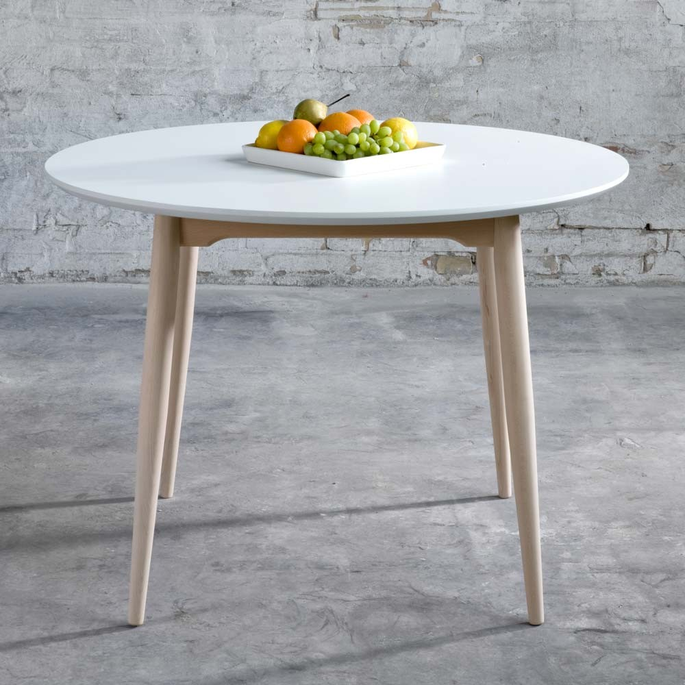 Table Extensible Ronde Rabattable Meuble De Salon Contemporain