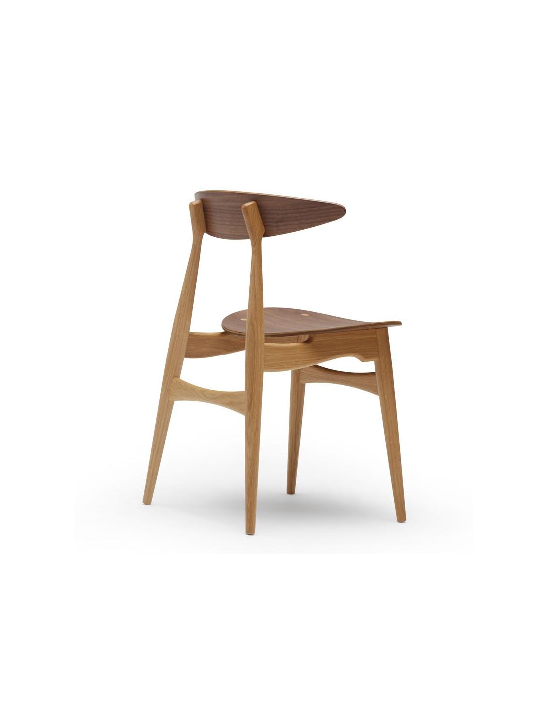 chaise ch33 design hans j wegner par carl hansen la. Black Bedroom Furniture Sets. Home Design Ideas