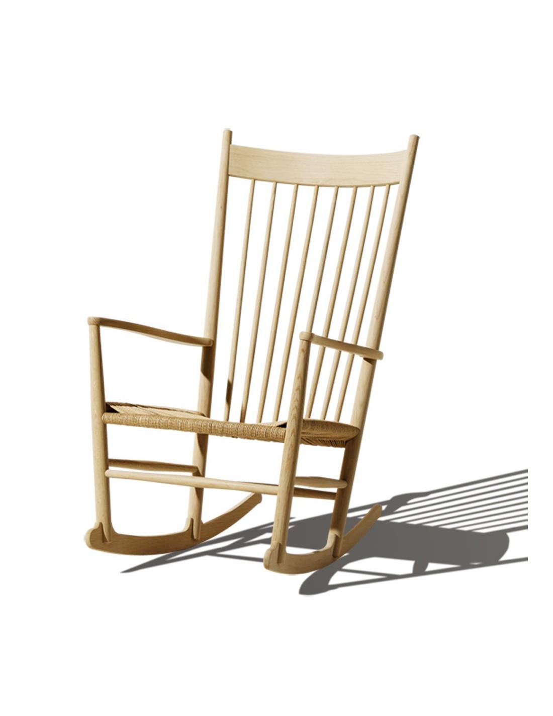 fauteuil bascule rocking chair de hans j wegner pour. Black Bedroom Furniture Sets. Home Design Ideas