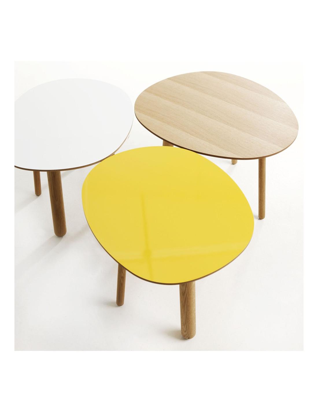 Table basse ronde style scandinave typik blanc - Table basse style scandinave ...