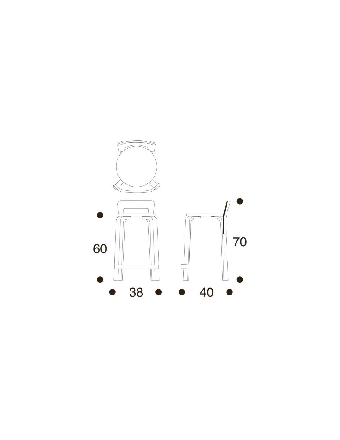 K65 High Stool Alvar Aalto Design For Artek La Boutique