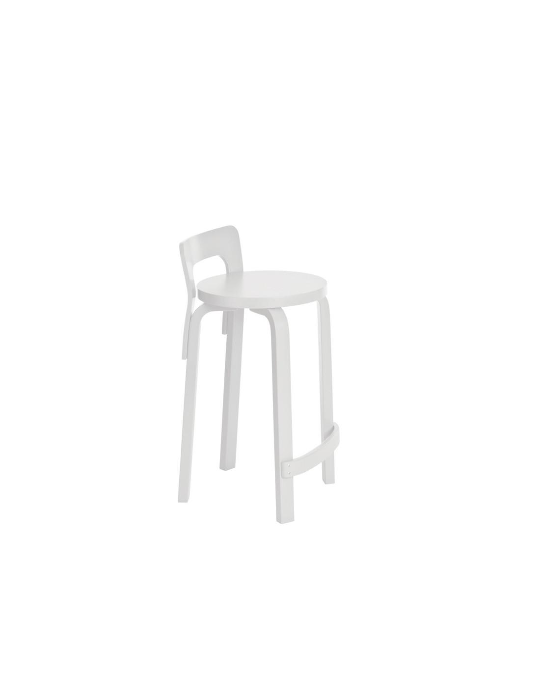 K65 high stool alvar aalto design for artek la boutique for Alvar aalto chaise lounge