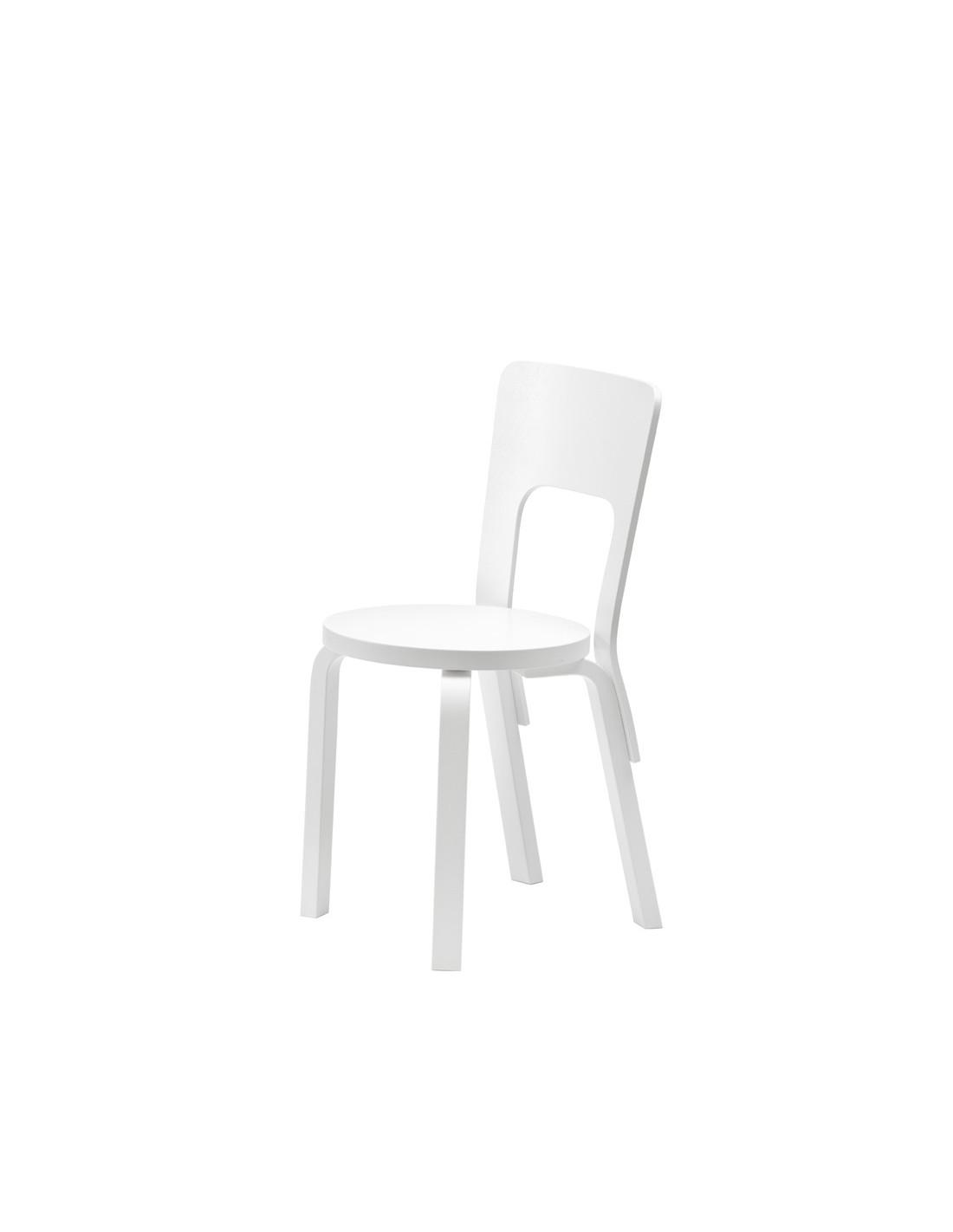 Chaise 66 design alvar aalto pour artek la boutique danoise - Chaise danoise design ...
