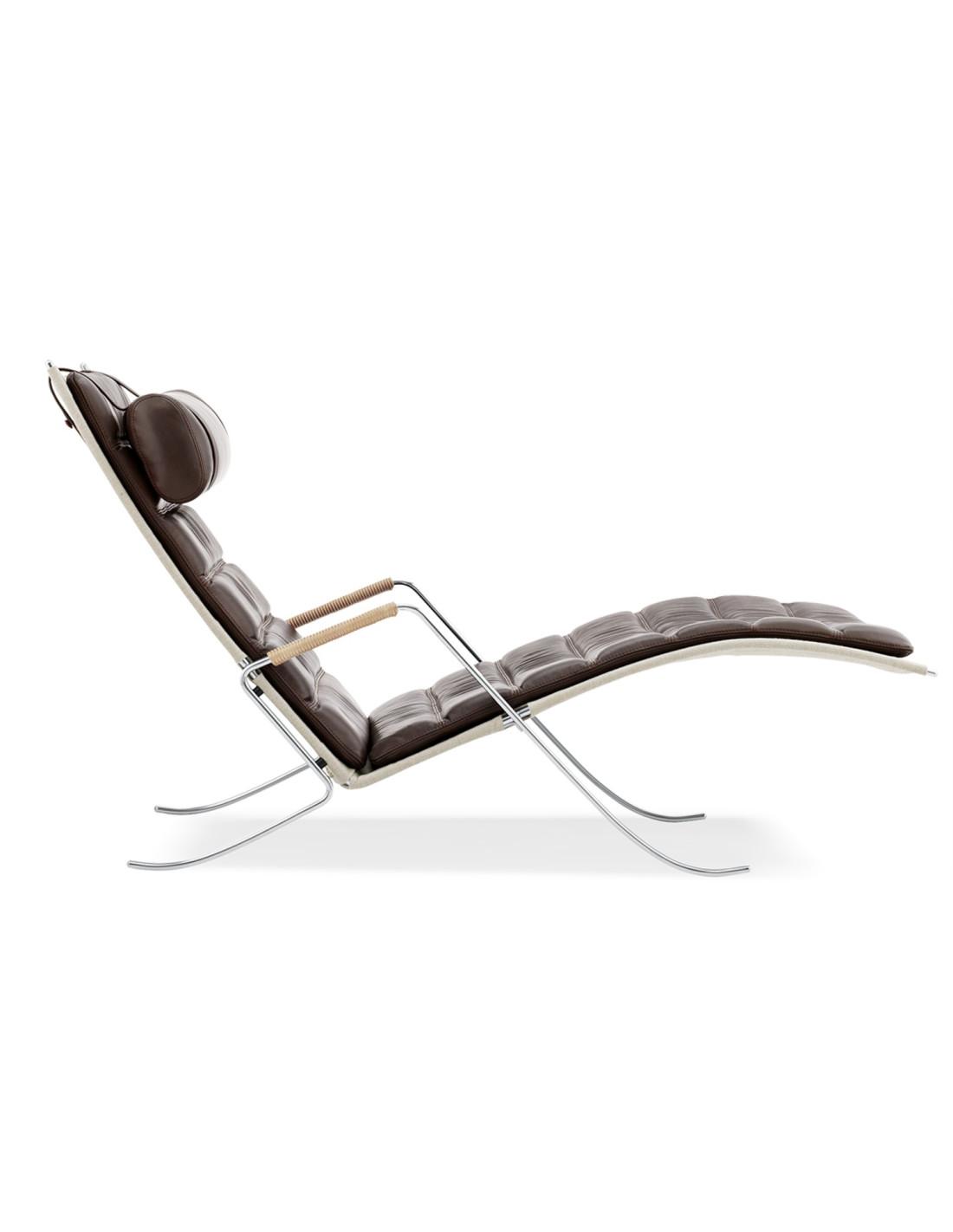 Chaise longue sauterelle design fabricius et kastholm - La chaise longue lampadaire ...