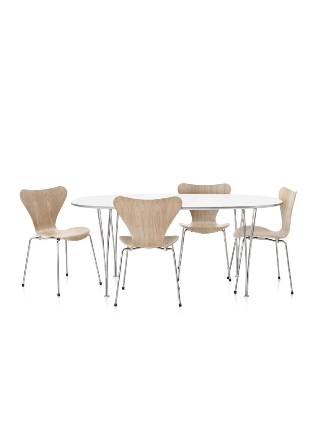 Chaise s rie 7 design arne jacobsen pour fritz hansen la boutique danoise - Chaise danoise design ...