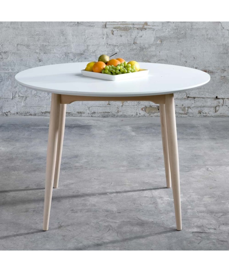 Table symphonie la boutique danoise for Table scandinave ronde rallonge