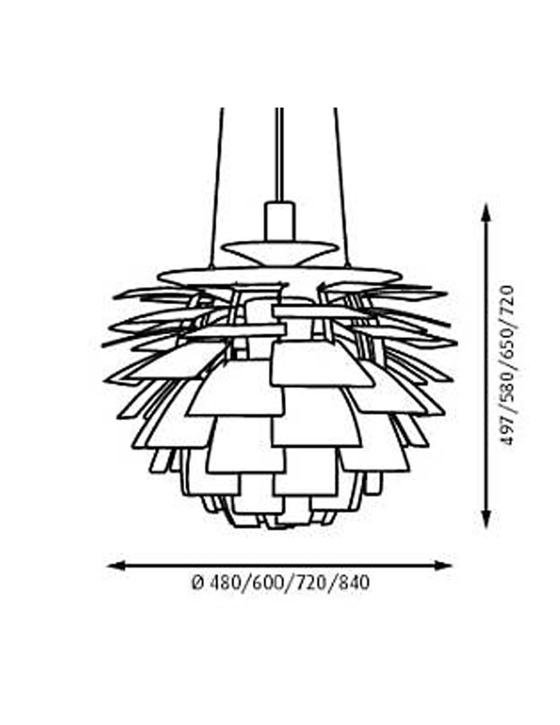Ph artichoke pendant poul henningsen design for louis poulsen la ph artichoke louis poulsen mozeypictures Images