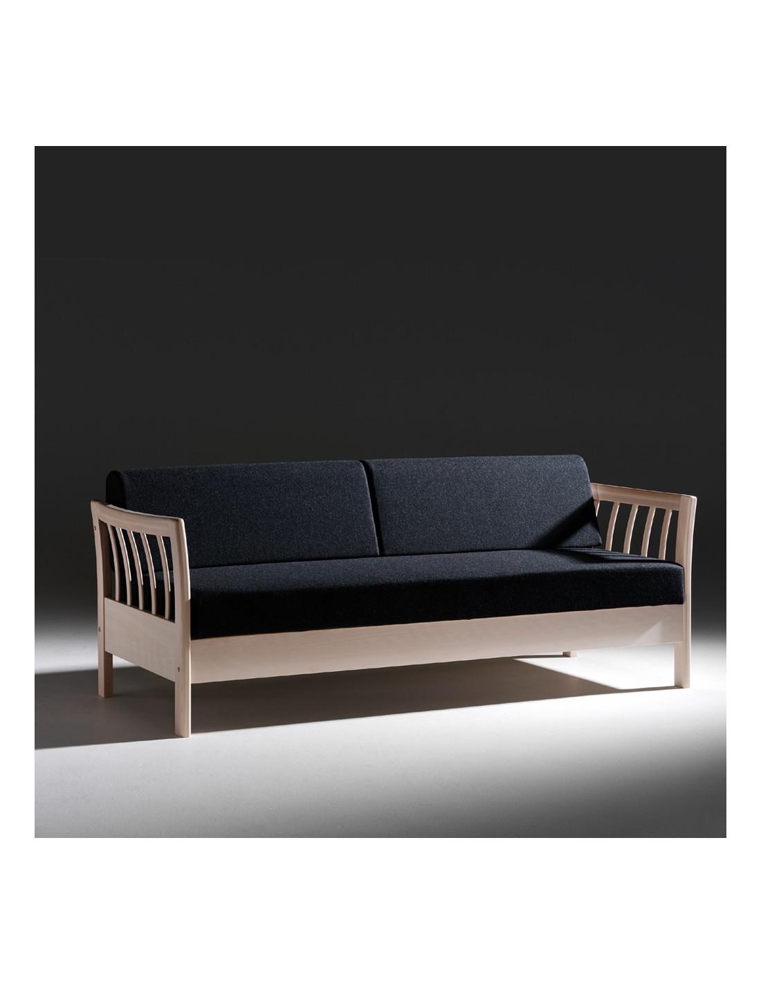 Convertible Sofa Three Places Scandinavian Design - Divan convertible