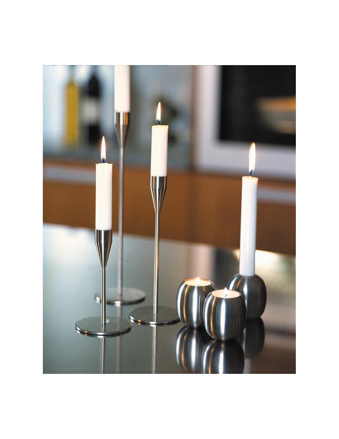 Piet Hein Stainless Steel Candlestick