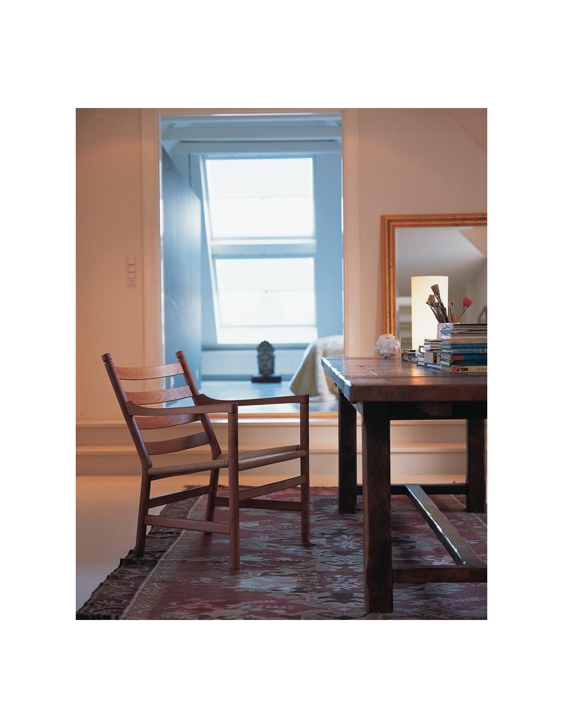 fauteuil ch44 design hans wegner pour carl hansen la boutique danoise. Black Bedroom Furniture Sets. Home Design Ideas