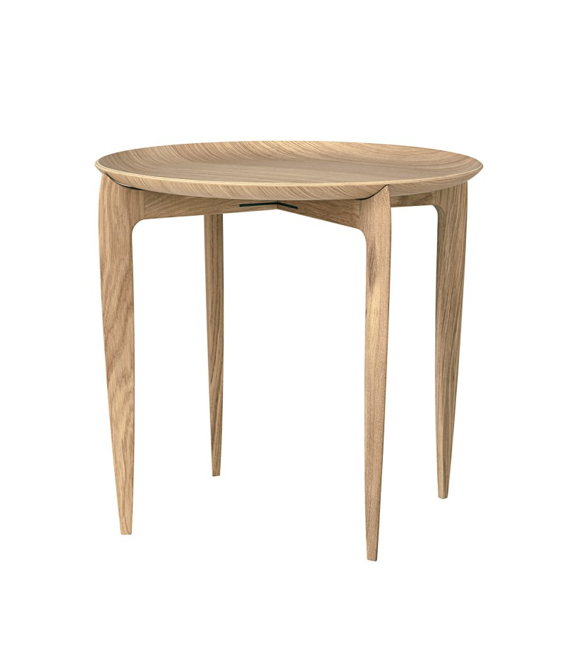 Side table tray willumsen engholm fritz hansen for Tray side table