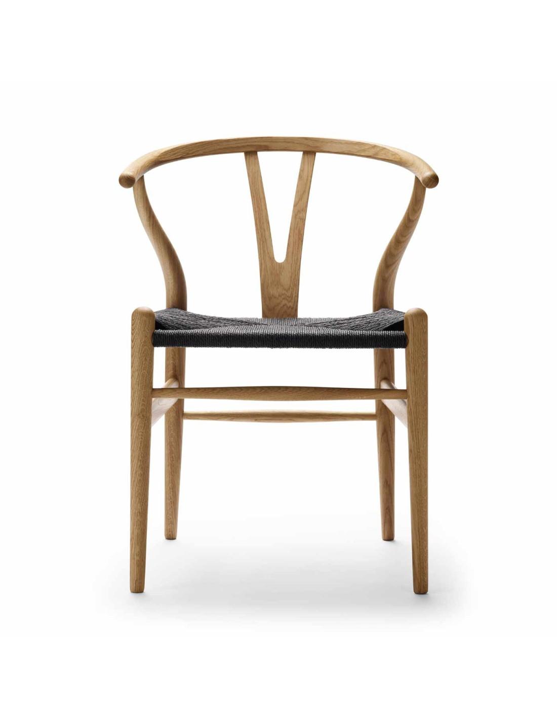 chaise ch24 wishbone design hans wegner pour carl hansen la boutique danoise. Black Bedroom Furniture Sets. Home Design Ideas