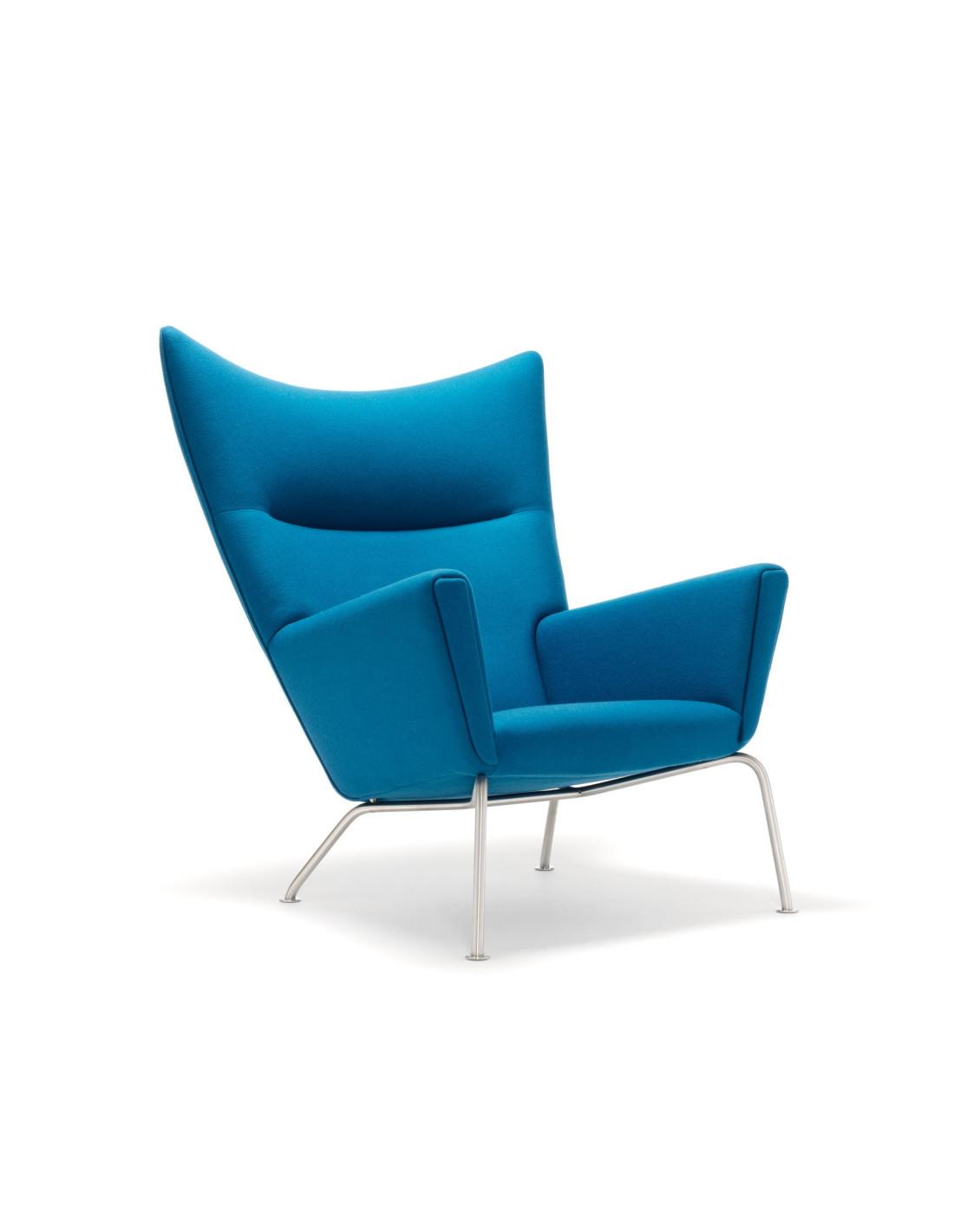 fauteuil wing ou ch445 par hans wegner pour carl hansen. Black Bedroom Furniture Sets. Home Design Ideas
