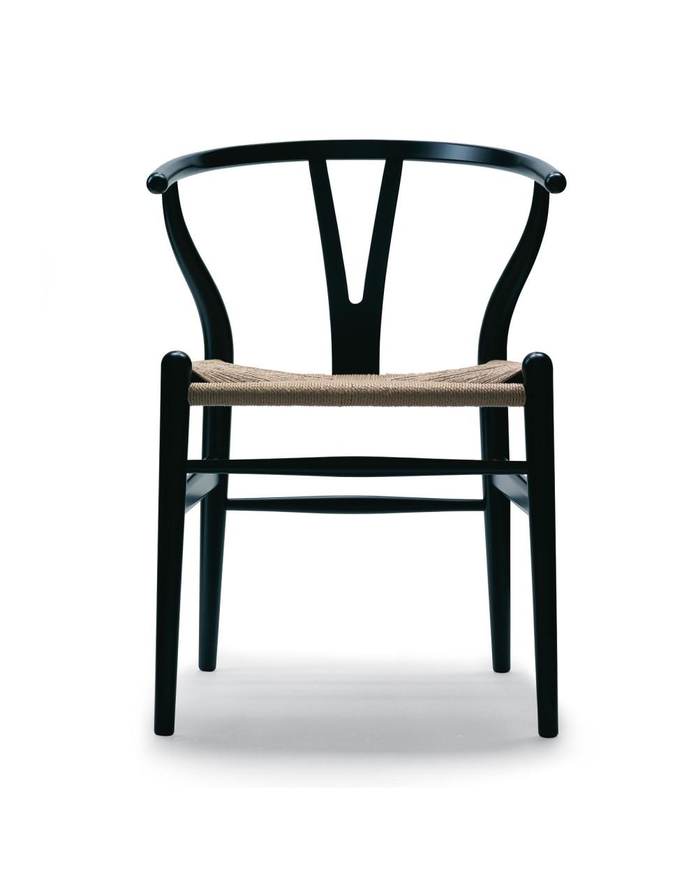 chaise wishbone CH24 Hêtre laqué Noir