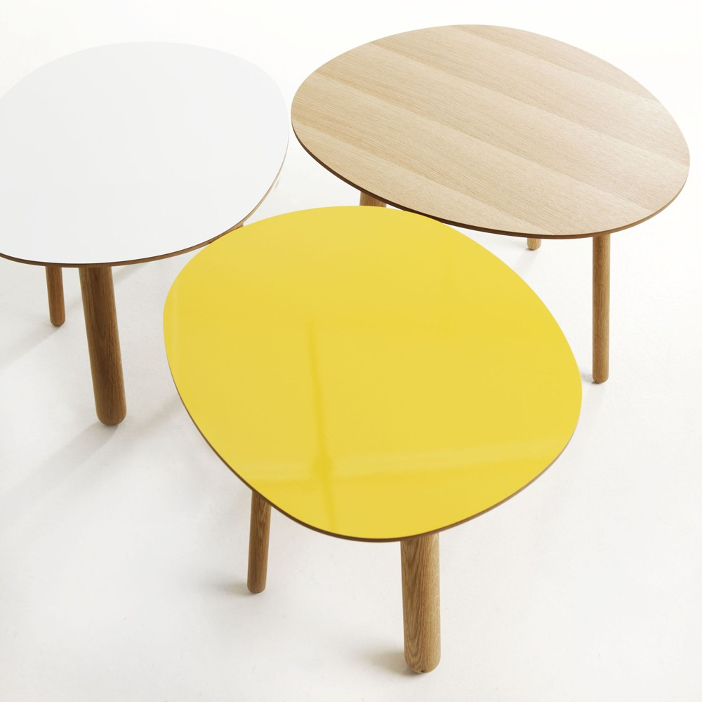 Table basse style scandinave jaune - Boutique-gain-de-place.fr