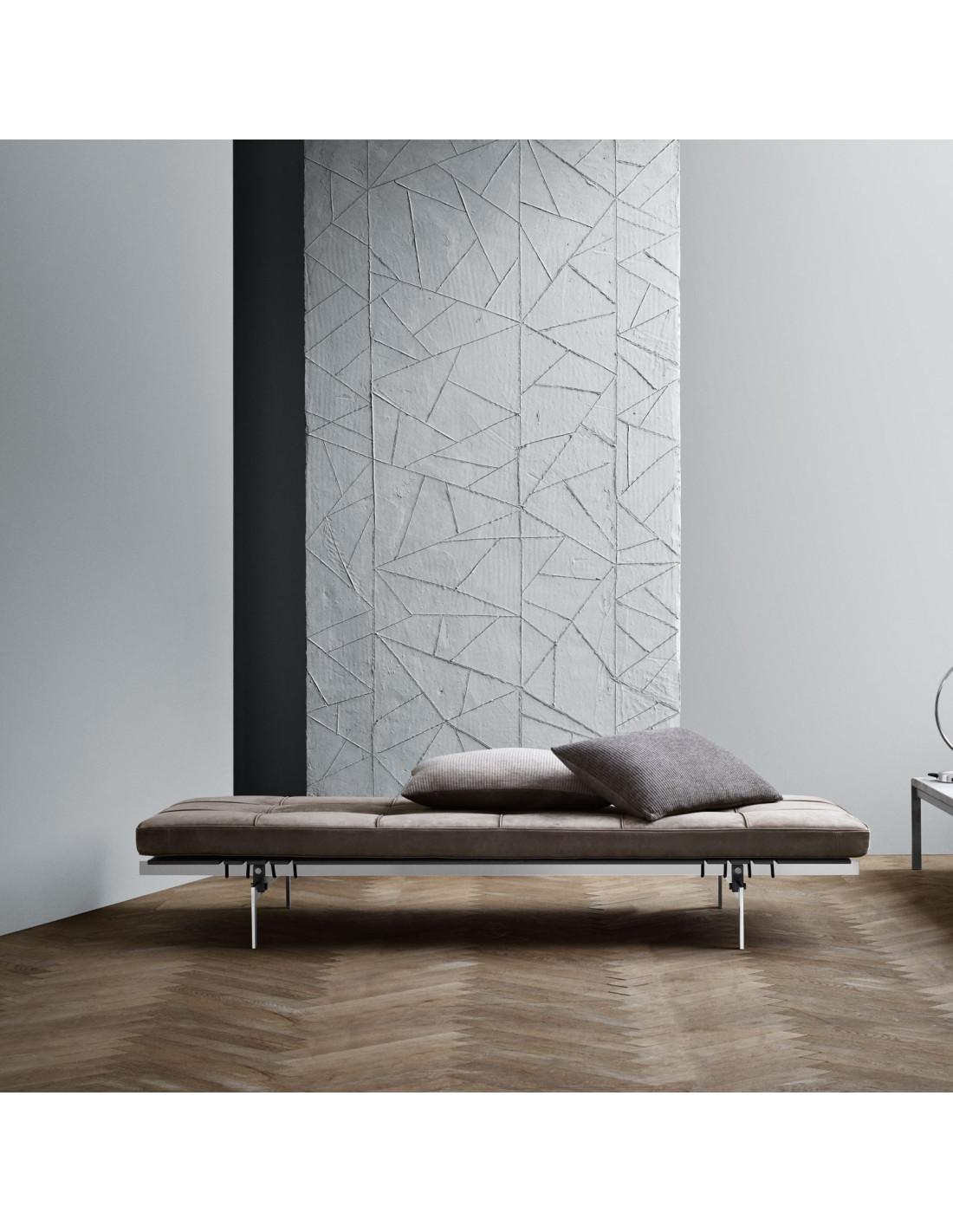 lit de jour pk80 design poul kjaerholm pour fritz hansen. Black Bedroom Furniture Sets. Home Design Ideas